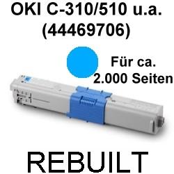 Toner-Patrone rebuilt Oki (44469706) Cyan C-310/330/331/510/511/530/531,MC-351/352/361/362/561/562
