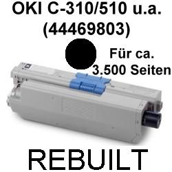 Toner-Patrone rebuilt Oki (44469803) Black C-310/330/331/510/511/530/531,MC-351/352/361/362/561/562